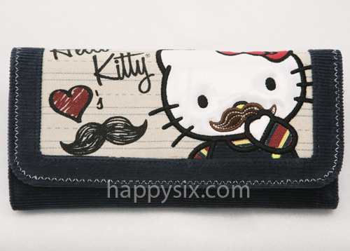 Hello Kitty Mustache Wallet by Loungefly