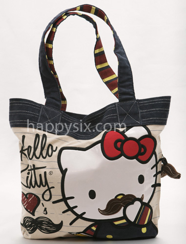 Hello Kitty Mustache Tote by Loungefly
