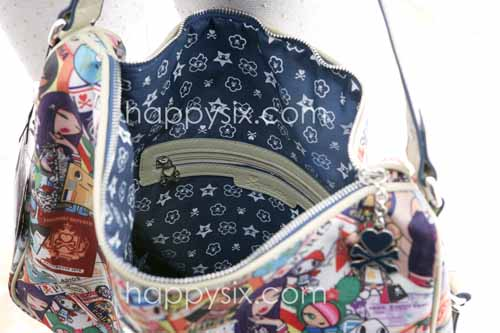 tokidoki Ramblers Inner Liner and Zippered Compartment