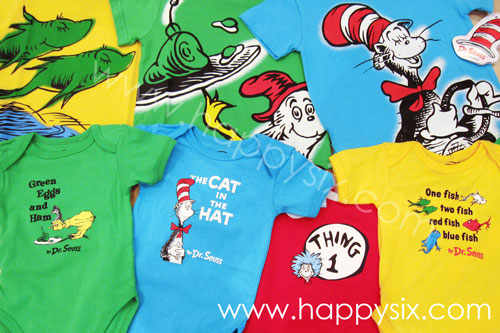Dr. Seuss Childrens Apparel at Happy Six