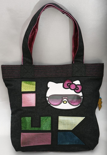 90's Kitty Denim Tote Bag