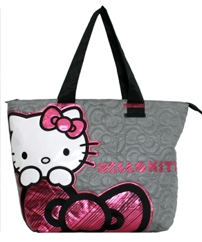 Quilted Bow Tote Bag