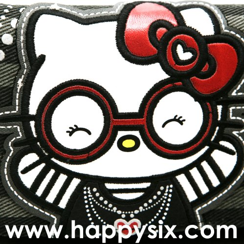 Hello Kitty Round Glasses Wallet by Loungefly