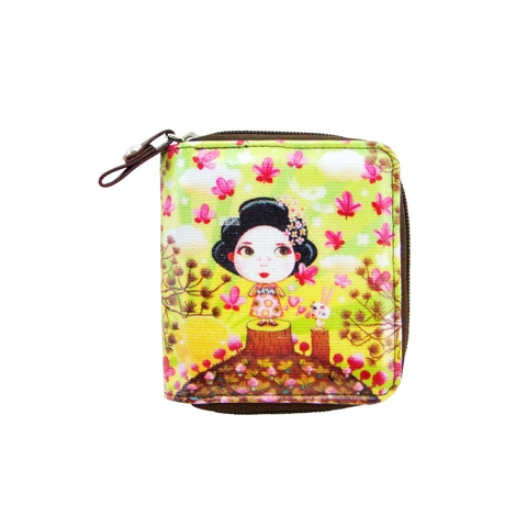 Tookata People Geisha Lime Kate Wallet