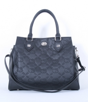 Hello Kitty Embossed Satchel Handbag