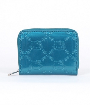 Hello Kitty Small Teal Embossed Wallet