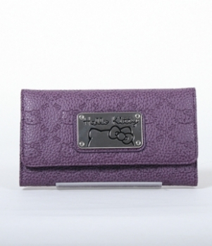Hello Kitty Grape Embossed Faux Leather Wallet