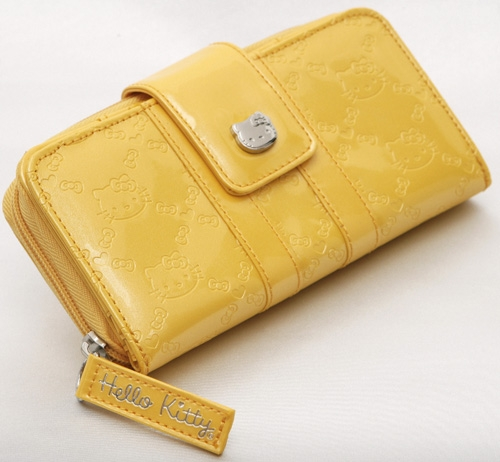 Hello Kitty Yellow Embossed Wallet