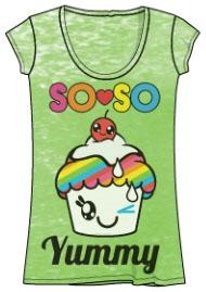 So So Happy Yummy Cupcake Burnout Tshirt