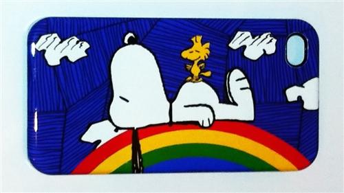 Snoopy and Woodstock Rainbow Iphone 4 Case