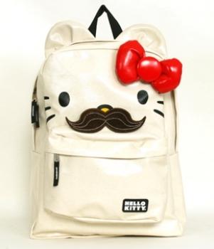 Hello Kitty mustache backpack