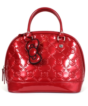 Tango Red embossed Hello Kitty Bag