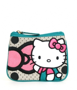 Hello Kitty Big Bow Dots Coin Bag